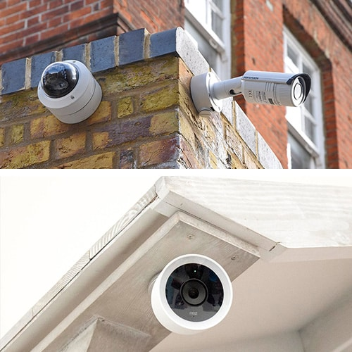 image of CCTV and IP security cameras