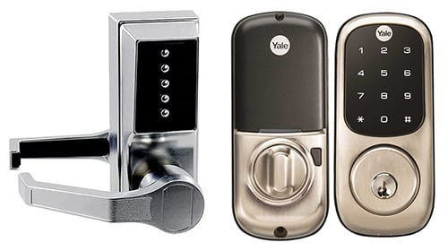 Analog and digital door locks for commercial properties