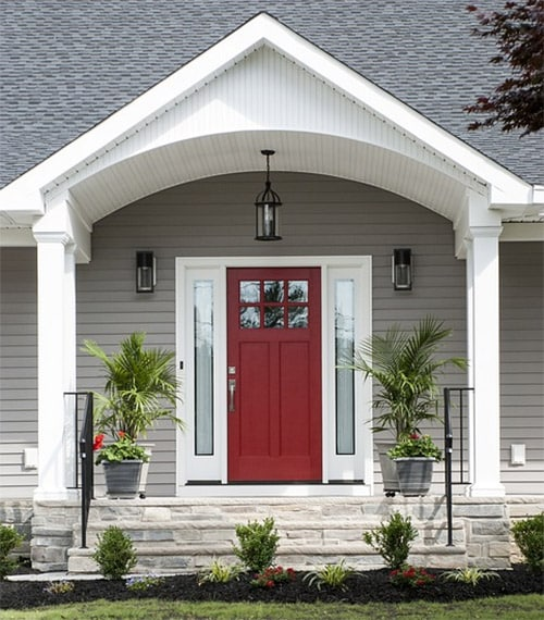 Image of a residential front door